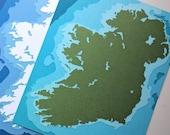 """Ireland - 8 x 10"""" layered papercut art"""