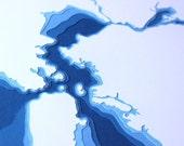San Francisco Bay - original 12 x 12 papercut art in your choice of color