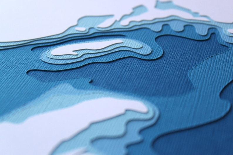 Lake Superior  original 8 x 10 papercut art image 0
