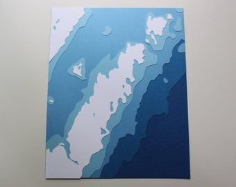 Door County, WI - original 8 x 10 papercut art