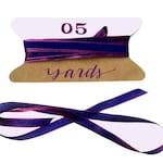 "Vibrant Purple Pink Ribbon, 5 Yards Woven Iridescent Ribbon, 1/4"" Shimmery Gift Wrapping Ribbon, Shop Packaging, Festive Fiesta"