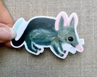Rabbit Eared Bilby Animal Sticker, Waterproof Vinyl Sticker