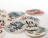 Hand Lettered Air Mail Envelope Seals