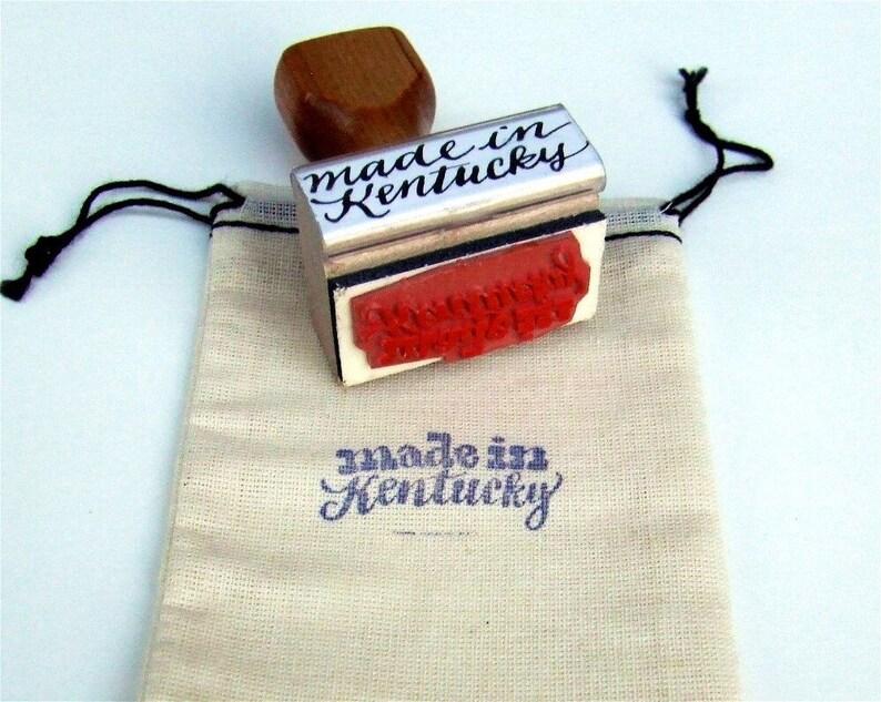 Made in Kentucky Stamp Calligraphy Stamp Wedding Stamp DIY image 0