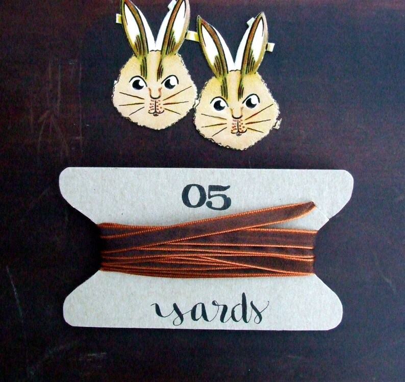 Caramel Copper Ribbon 5 yards Silky Iridescent Decorative image 0