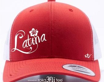 Latina Red&White Snapback