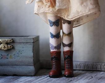 Papillon Doll Socks for Blythe, Pullip, Monster High, Azone Pure Neemo, Barbie