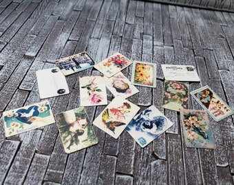 1:6 Scale Antique Postcards - Set of 14 - for Blythe, Barbie, and Other Playscale Dolls