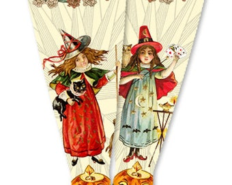 The Witches Halloween Doll Socks for Blythe, Pullip, Monster High, Azone, Barbie, Rainbow High