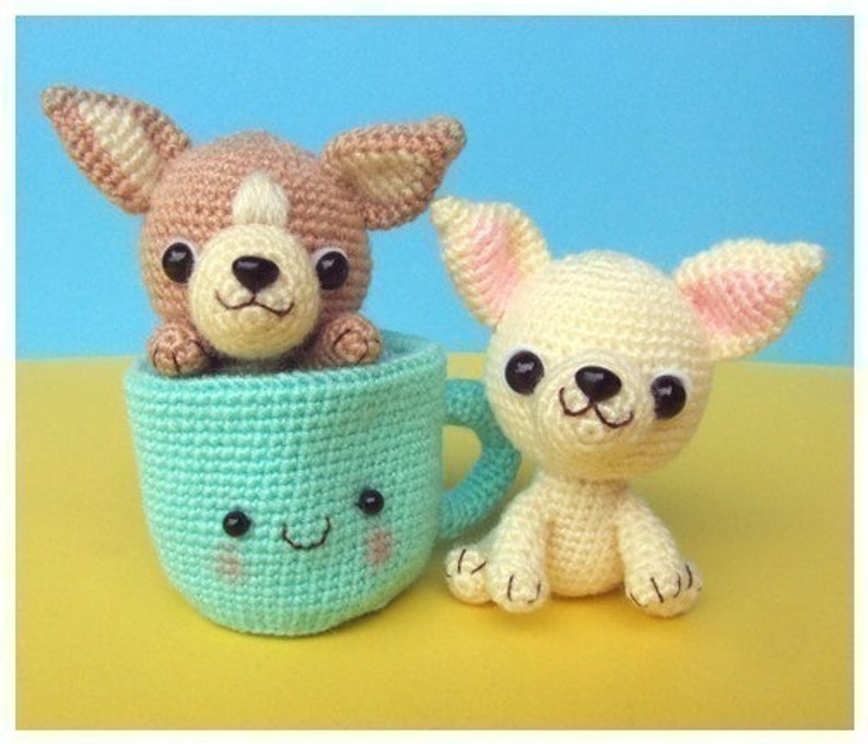Chihuahua Tea Cup Puppy  PDF Crochet Pattern image 0