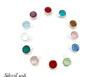 Birthstone Crystal Add-Ons for Custom Handstamped Jewelry