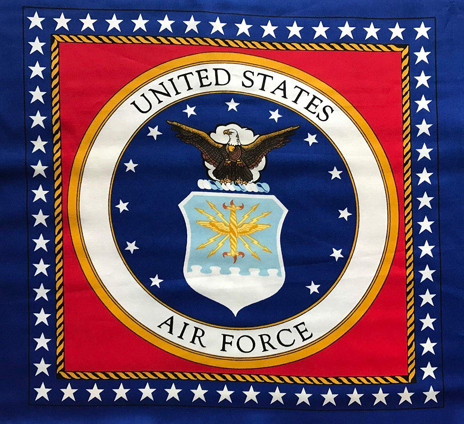 U.S. AIR FORCE Seal, Panel With 4 Pillow Panels.
