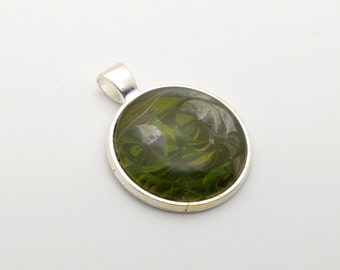 Acrylic Pour Pendant - #009 Crop Circles
