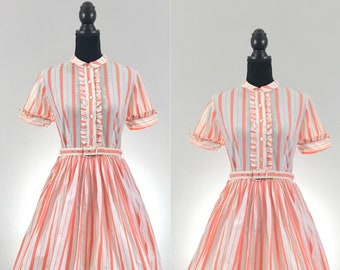 Candy Shop Vintage Dress, 1950's Dress, Vintage Cotton Dress, VLV Dress, Dapper Day Vintage Striped Dress, Disneybound Dress, Rockabilly Dre