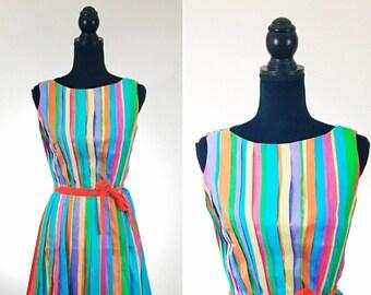 Mad Tea Party Vintage Dress, Disneybound, 1950's Dress, VLV Dress, Dapper Day Dress, Ribbon Dress, Striped Dress, Pleated Dress, Red Dress,