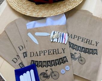 10 Gentlemen Gifts, Dapper Gift, Groomsmen's Gift, Gifts Under 10, Men's Gifts, Gentlemen, Vintage Men, Vintage Bow Tie, Father's Gift,