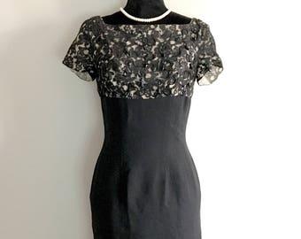 1960's Dress, Vintage Black Dress, Cocktail Dress, Little Black Dress, Mad Men Dress, Dapper Day, Audrey Hepburn Dress, Jay Herbert Dress,