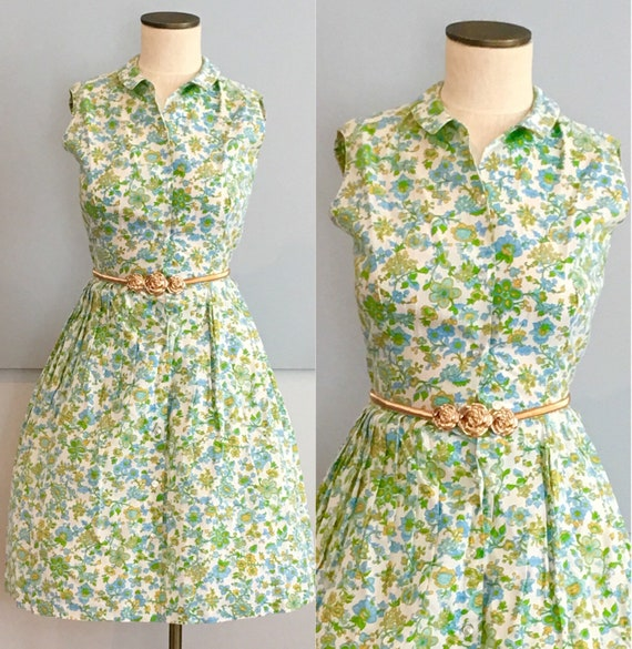Dapper Day Summer Bouquet Vintage Dress, VLV Dress