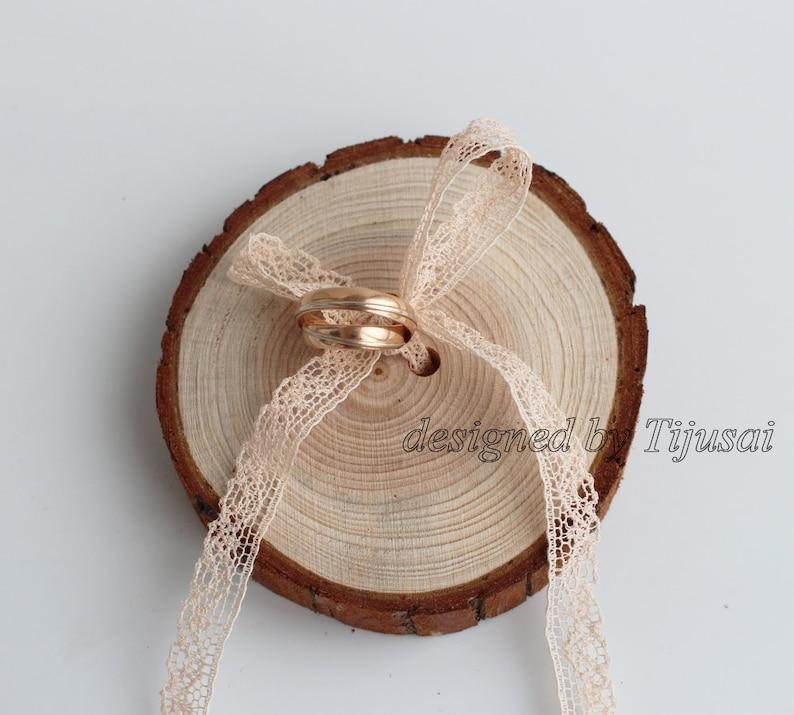 Ring bearer wood slice-wedding ring holder ready to ship