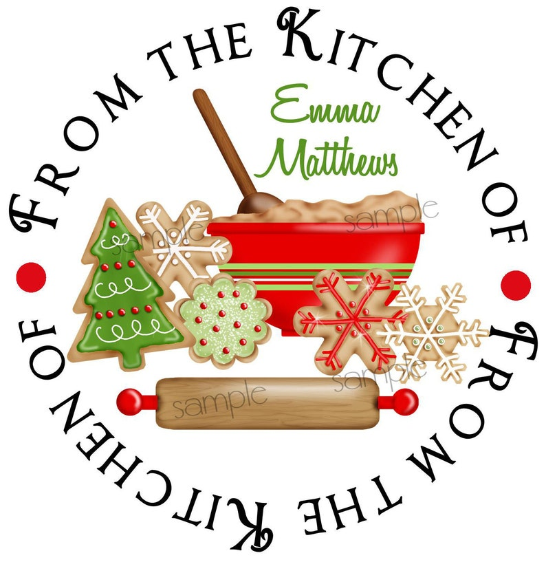 Christmas Cookie Stickers Cookie Exchange Baking Labels Cookie Swap Holiday Christmas Kitchen Cookies Labels Set Of 12