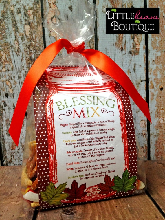 Printable Blessing Mix Favors