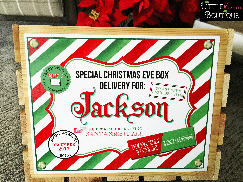 Printable Christmas Eve Box Sign Christmas Eve Box Christmas | Etsy