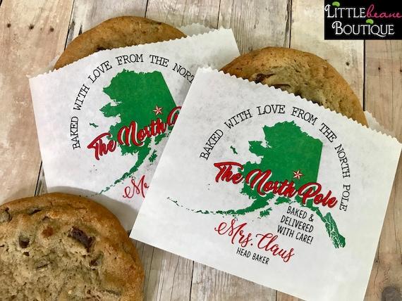Christmas Cookie Bags Santa Claus Cookies Cookie Swap Etsy