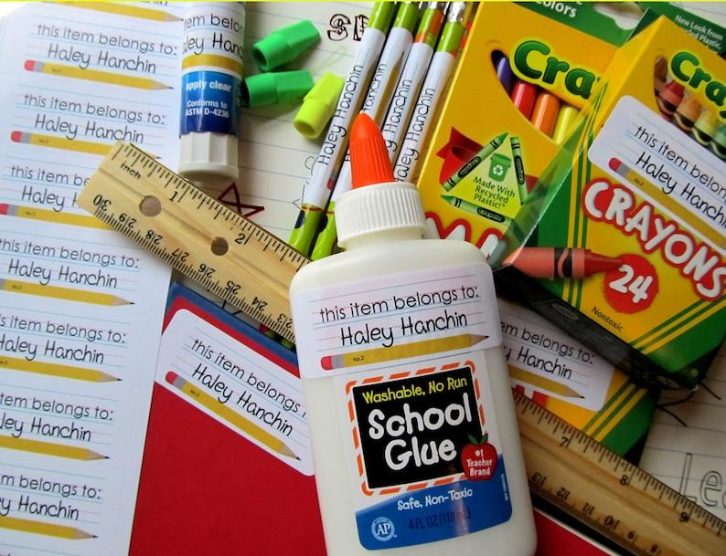 Printable Back To School Stickers Diy Labels Pencil Labels School Paper Teacher Children School Suppies