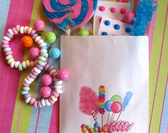 Candy Circus Favor Bags, Candy Favor bags, Treat bags, goody bags, Candy Buffet bags, Sweet Shoppe Birthday party, Sweet Shop