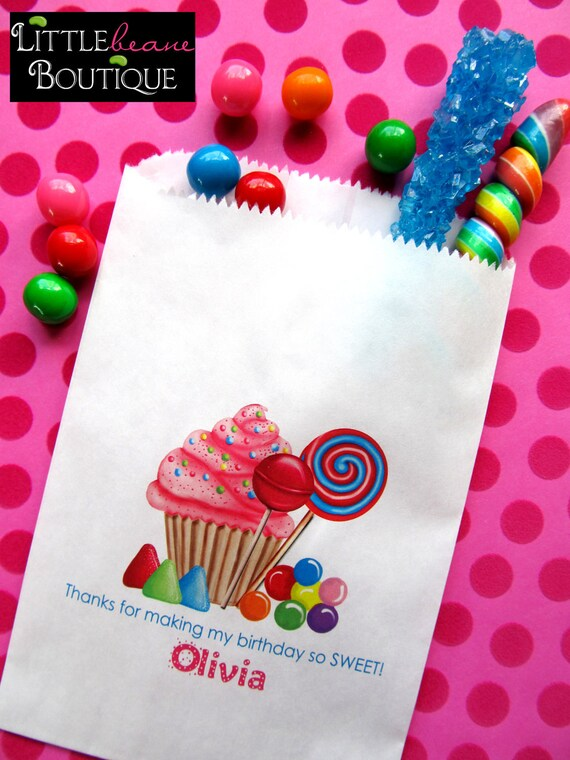 personalized candy bags oh sweet candy favor bags candy etsy