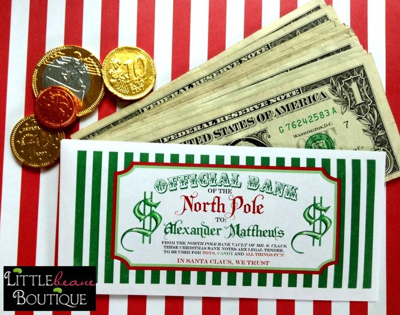 image 0 ... & Personalized Christmas Money Envelopes Money Gift ideas gift giving Teenagers Children Kids Stocking Stuffer cash gift Santa Bucks