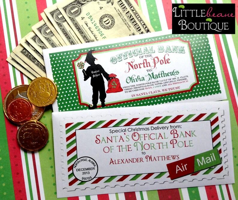 Personalized Christmas Money Envelopes Money Gift 8 ...