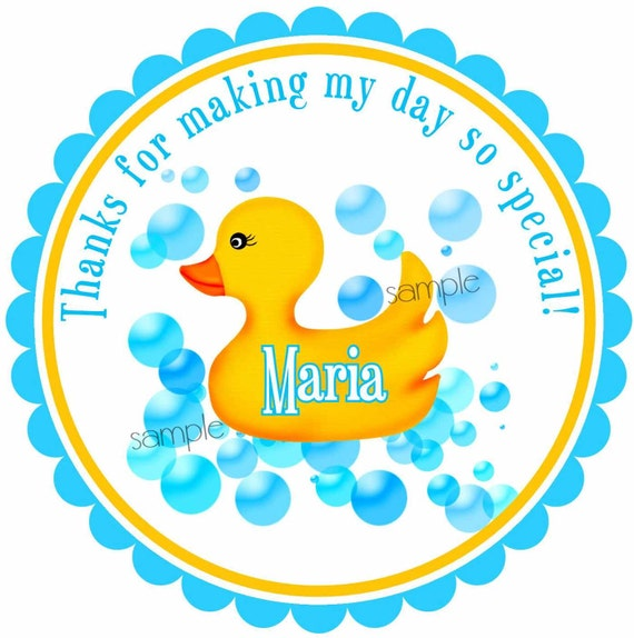 Rubber Ducky Stickers Rubber Duck Baby Shower Stickers Etsy