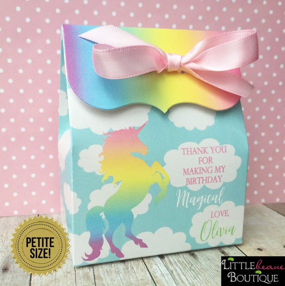 Colorful Glitter Unicorn Favor Box for Unicorn whimsical Party