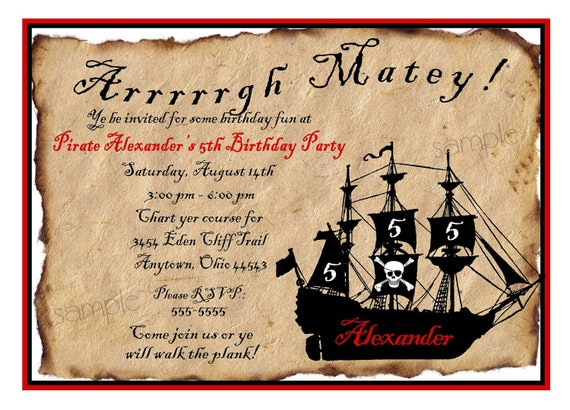 Pirate invitations pirate ship birthday party invitations pirate il570xn filmwisefo