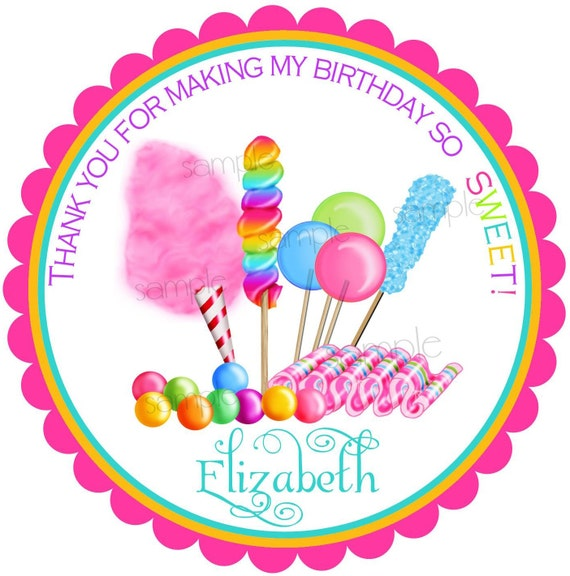 18th Birthday Birthday Party Favor Gumball Candy: Candy Stickers, Candy Circus,Sweet Shop, Birthday Party