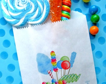 Personalized Candy Bags, Candy Circus, BOY COLORS, Favor bags, Candy Buffet, Birthday party, Sweets, Treats