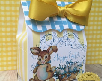 Easter Bunny favor Boxes, Candy Favor box, Easter treat boxes,  easter egg hunt, Easter bunny, Easter egg, Treat box