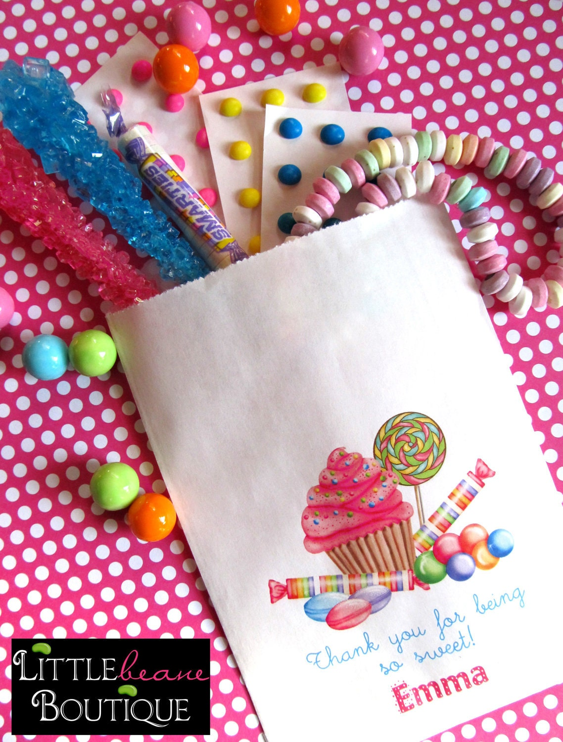 personalized candy bags wonderland sweet shop candy favor etsy