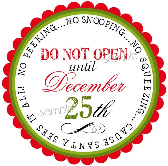 Dont Open Till Christmas.Personalized Christmas Stickers Do Not Open Till Christmas Santa Claus Gift Stickers Labels Seals Favor Gift Present Set Of 12