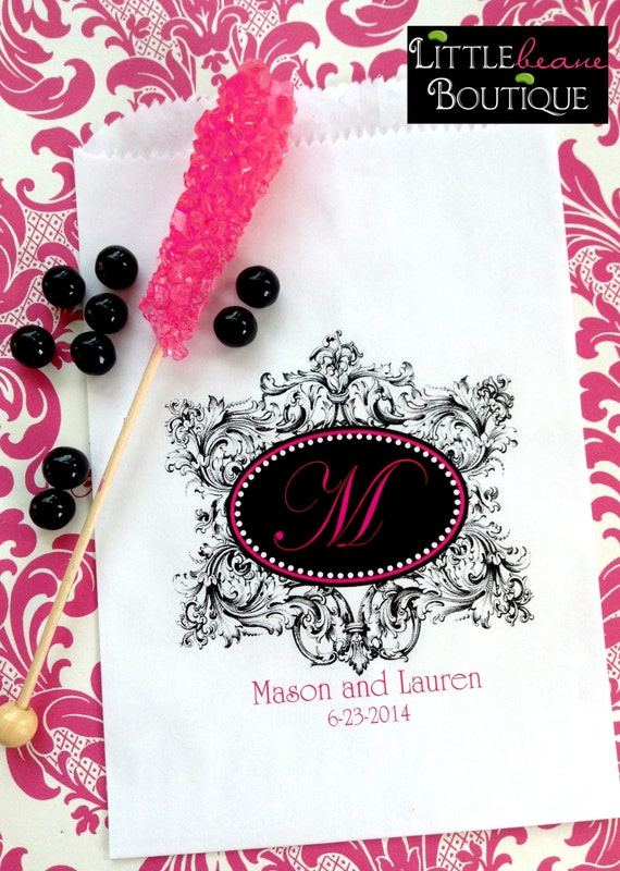 Astounding Wedding Candy Bags Formal Flourish With Initial Wedding Home Interior And Landscaping Palasignezvosmurscom