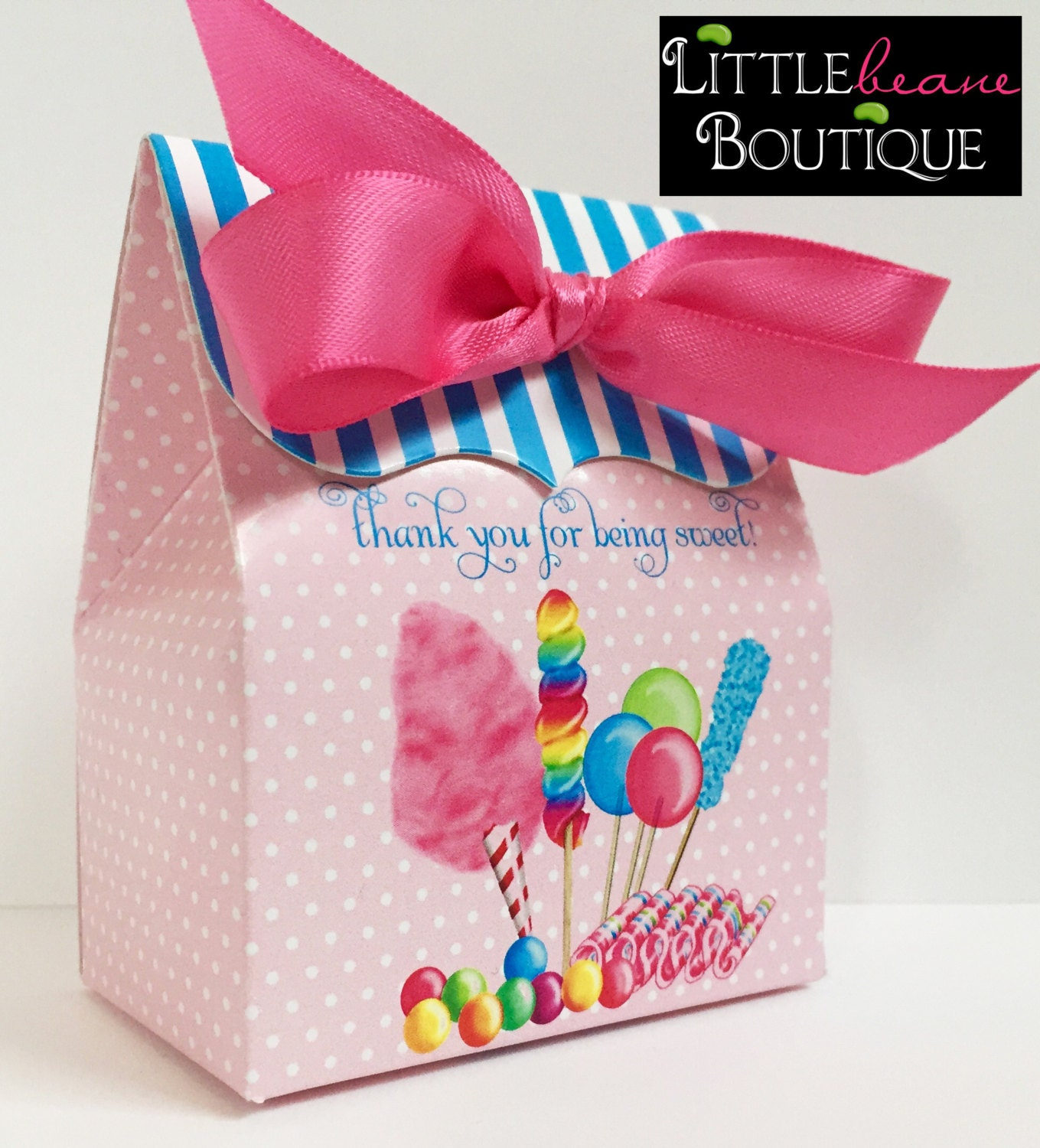 Candy Circus Birthday Party Personalized favor BoxCandy