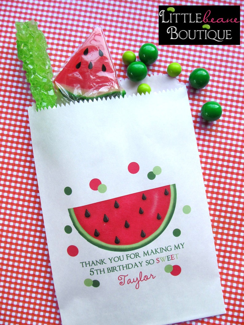 Watermelon Birthday Party Candy Bags Favor bags Watermelon image 0