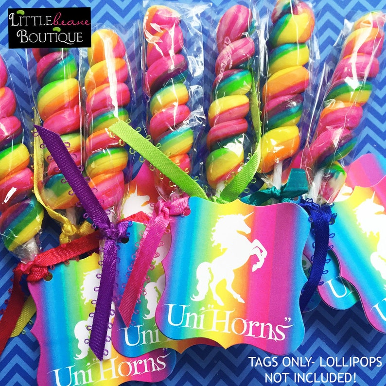 Unicorn favor tags unicorn stickers unicorn birthday party image 0