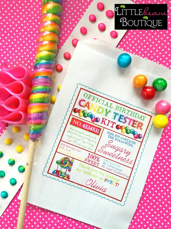 candy favor bags candy party bags favor bagscandy tester etsy