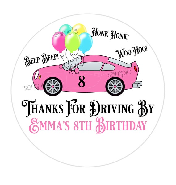 Drive By Birthday Party Favor Stickers Quarantine Stickers Etsy