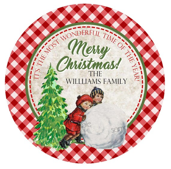 retro christmas labels vintage christmas stickers children etsy