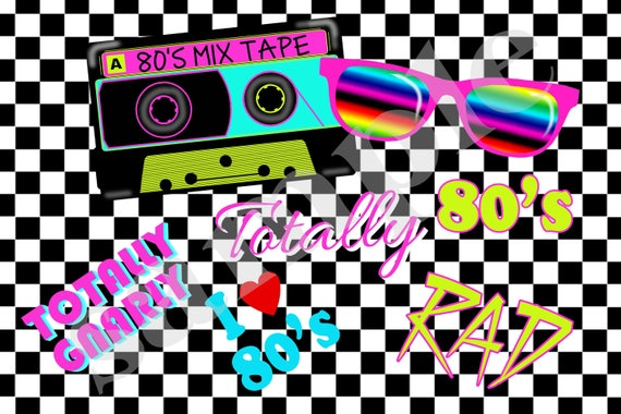Printable 80's Poster,DIY, 24 x 36 size backdrop sign,1980's Backdrop,80's Birthday Party,I Love the 80's Poster,80's Decorations