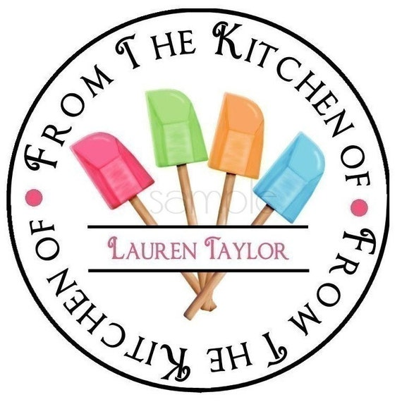 kitchen stickers rubber spatulas baking stickers cooking etsy