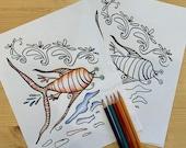 Genetic Mutation Fish/Human Digital Download Colouring Page PDF
